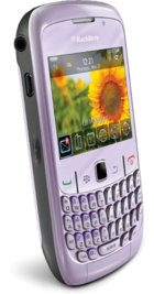 BlackBerry Curve 8520 Violet back