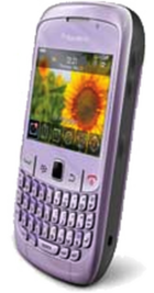 BlackBerry Curve 8520 Violet side