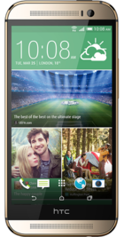 HTC One M8 Gold front