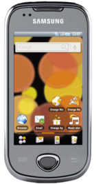 Samsung Galaxy Apollo i5801 front