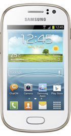 Samsung Galaxy Fame White front