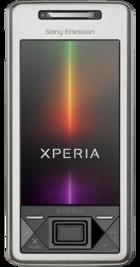 Sony Ericsson Xperia X1 Silver front