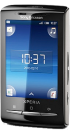 Sony Ericsson Xperia X10 Mini Silver back