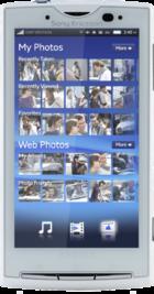 Sony Ericsson Xperia X10 White front